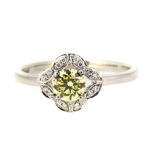 0.40 carat Champagne diamond engagement ring