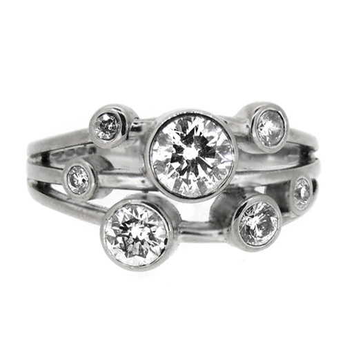 1 Carat Silver Diamond ring
