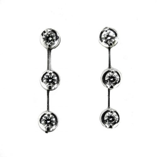 18 ct Diamond Drops Earrings