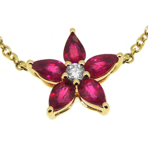 18 ct Ruby and Diamond Necklace