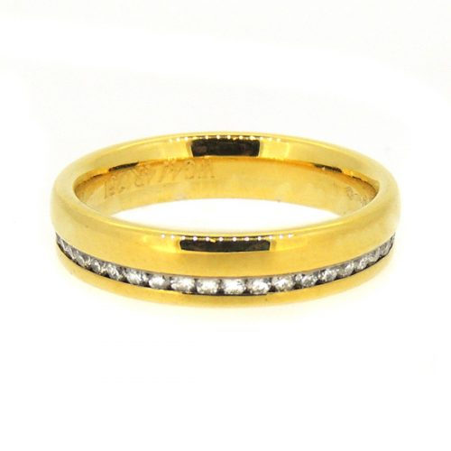 18ct yellow diamond ring