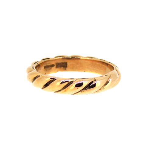 9 ct Rose Gold Twist Ring