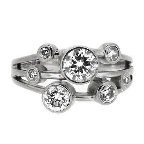 1ct diamond ring in 18ct white gold