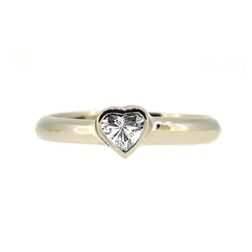 Diamond Heart Engagement Ring