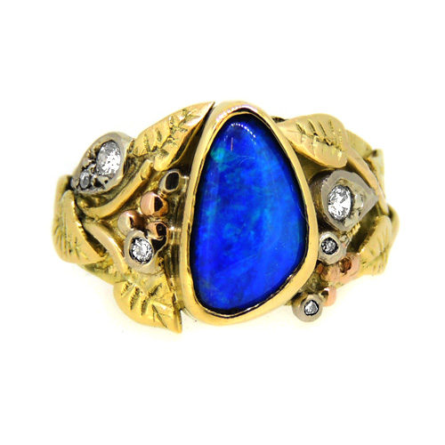 Organic Opal Doublet Ring
