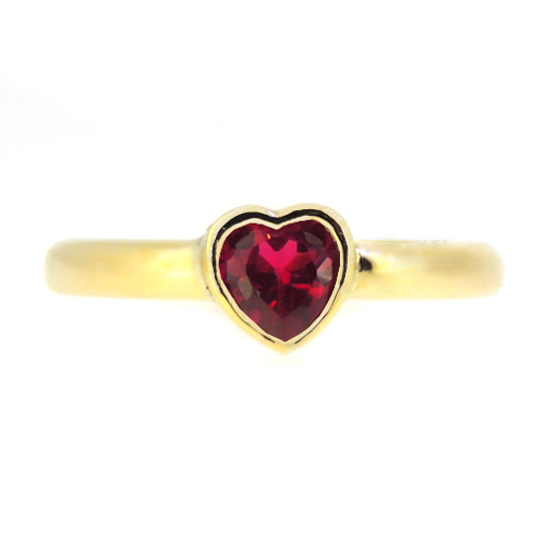 Ruby Engagement Ring in 18 ct Gold