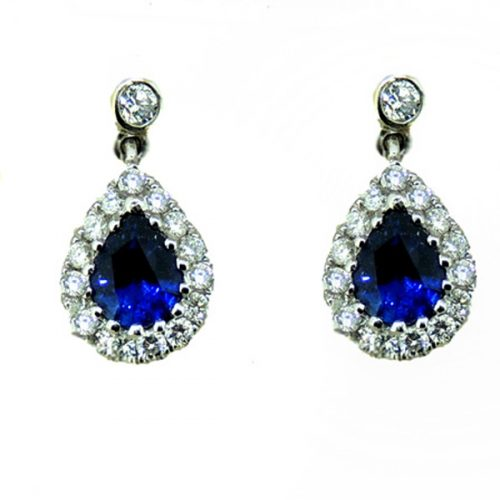 Sapphire and Diamond 18 ct Earrings